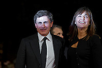 Roma, 27 Ottobre, 2011. Renata Polverini con Gianni Alemanno sul red carpet dell'Auditorium al Festival del Cinema a Roma