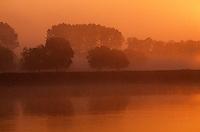 Europe/France/Pays de la Loire/49/Maine-et-Loire/Gennes: La Loire au soleil couchant