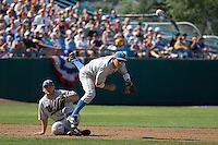 UCLA SS Niko Gallego in Game 11 of the NCAA Division One Men's College World Series on June 25th, 2010 at Johnny Rosenblatt Stadium in Omaha, Nebraska.  (Photo by Andrew Woolley / Four Seam Images)