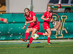 29 September 2013: Stony Brook University Seawolves Defender Julianne Palm, a Senior from Stilwell, KS, in action against the University of Vermont Catamounts at Virtue Field in Burlington, Vermont. The Lady Seawolves defeated the Catamounts 2-1 in America East play. Mandatory Credit: Ed Wolfstein Photo *** RAW (NEF) Image File Available ***
