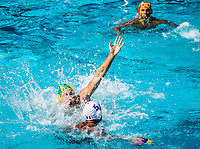 9 FORD Andrew AUS, 5 GUILLAUME Dino FRA <br /> FRA (white cap) -  AUS (blue cap)<br /> Preliminary Round Water Polo Women<br /> Day06  19/07/2017 <br /> XVII FINA World Championships Aquatics<br /> Alfred Hajos Complex Margaret Island  <br /> Budapest Hungary <br /> Photo @ Deepbluemedia/Insidefoto