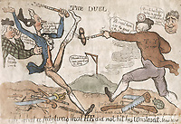 BNPS.co.uk (01202 558833)<br /> Pic: AmberleyBooks/BNPS<br /> <br /> Many mocked Prime Minister William Pitt's decision to fight a 1798 duel with MP George Tierney while Britain was at war.<br /> <br /> These full-blooded political skirmishes of a bygone age make today's Brexit infused disorder in the Commons seem almost tame by comparison.<br /> <br /> Historian Eugene Wolfe has charted the history of discord in British politics over the past 400 years in his new book, Parliamentary Violence in the United Kingdom.<br /> <br /> He has listed over 800 incidents were tensions have got out of hand, with some leading to sword duels between MPs and brawls on the floor.<br /> <br /> One former prime minister, William Pitt, even challenged a political rival to a gun duel on Putney Heath.