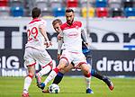 nph00351: Fussball, 1. Bundesliga, Saison 19/20, 26. Spieltag, Fortuna Düsseldorf - FC Paderborn 07, 16.05.2020:<br /> Kenan Karaman (F95) Uwe Hünemeier (SCP)<br />  <br /> <br /> Nur für journalistische Zwecke! Only for editorial use!<br /> <br /> Gemäß den Vorgaben der DFL Deutsche Fußball Liga ist es untersagt, in dem Stadion und/oder vom Spiel angefertigte Fotoaufnahmen in Form von Sequenzbildern und/oder videoähnlichen Fotostrecken zu verwerten bzw. verwerten zu lassen. DFL regulations prohibit any use of photographs as image sequences and/or quasi-video. <br /> <br /> Foto: Moritz Müller/Pool / via Meuter/nordphoto