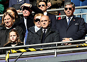 5th November 2017, Wembley Stadium, London England; EPL Premier League football, Tottenham Hotspur versus Crystal Palace; Tottenham Hotspur Chairman Daniel Levy from the directors box looking on before kick off