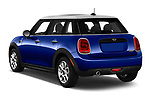 Car pictures of rear three quarter view of 2019 MINI Hardtop-4-Door Cooper-Signature 5 Door Hatchback Angular Rear