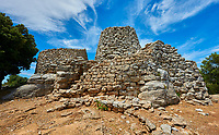 Picture and image of the prehistoric magalith ruins of the multi towered Nuraghe Serbissi, archaeological site, Bronze age (14 - 10 th century BC). Nuraghe Serbissi is situated at over 900 meters on a remote limestone plateau in central Sardinia.  Osini in Ogliastra, Southern Sardinia.