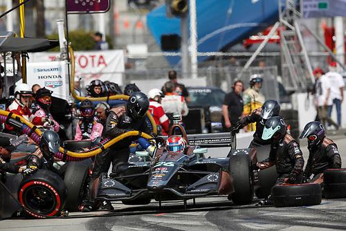 Zach Veach, Andretti Autosport Honda, pit stop