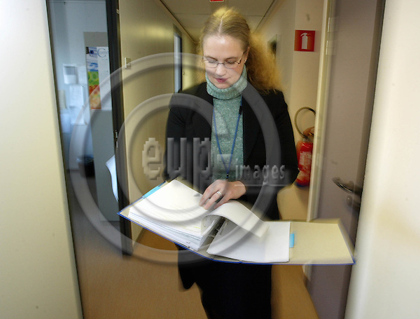 BELGIUM, Brussels / 24 January 2003--Mette JÆRANLI is working as an National Expert in the DG for Health and Consuner Protection at the Eu-Commission..PHOTO: JUHA ROININEN