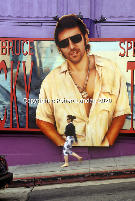 Bruce Springsteen billboard  on the Sunset Strip circa 1992