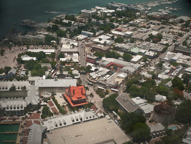 Aerial of downtown Key West