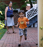 Ava, Cohen and Cooper Shurtleff at the University of Virginia in Charlottesville, VA. Photo/Andrew Shurtleff