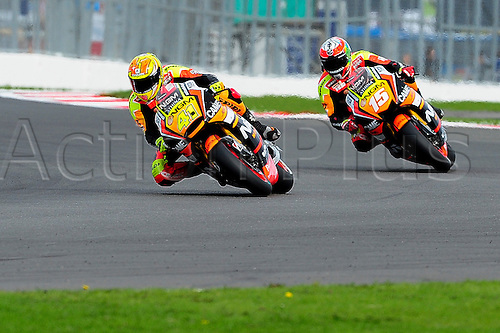 30.08.2014.  Silverstone, England. MotoGP. British Grand Prix. Aleix Espargaro (NGM Foward Team) during the qualifying sessions.