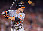 25 August 2016: Baltimore Orioles outfielder Steve Pearce in action against the Washington Nationals at Nationals Park in Washington, DC. The Nationals blanked the Orioles 4-0 to salvage one game of their 4-game home and away series. Mandatory Credit: Ed Wolfstein Photo *** RAW (NEF) Image File Available ***