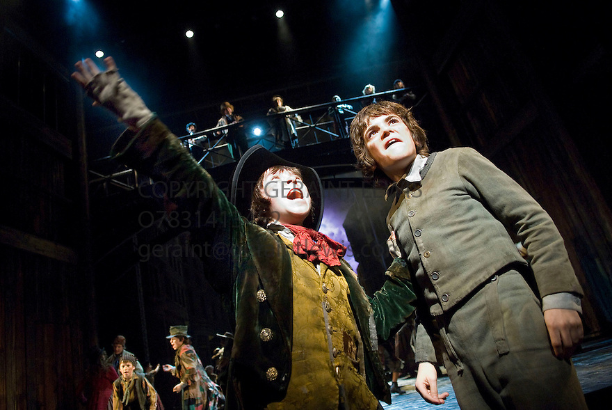 Oliver by Lionel Bart,directed by Rupert Goold,Choreographed by Matthew Bourne. With Harry Stott as Oliver, Robert Madge as Artful Dodger.Opens at The Theatre Royal, Drury Lane  on  14/1/09. CREDIT Geraint Lewis