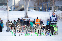 Denver Kay Evans At the start of the 2016 Junior Iditarod Sled Dog Race on Willow Lake  in Willow, AK February 27, 2016