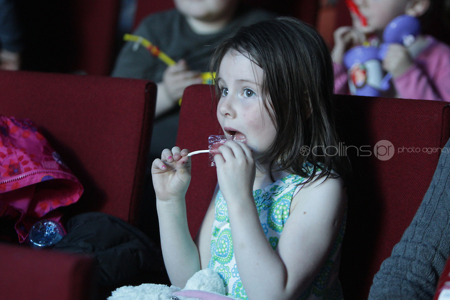 NO FEE PICTURES.5/5/11 A child in the audience pictured at the opening night of Disney Live! Mickeys Musical Adventure at the Grand Canal Theatre, Dublin..The spectacular stage show features all your Disney favourites and  runs until this Sunday. Picture:Arthur Carron/Collins