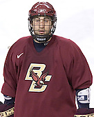 Stephen Gionta - Boston College's morning skate on Friday, December 30, 2005 at Magness Arena in Denver, Colorado.  Boston College defeated Ferris State that afternoon in a shootout and defeated Princeton the following night to win the Denver Cup.