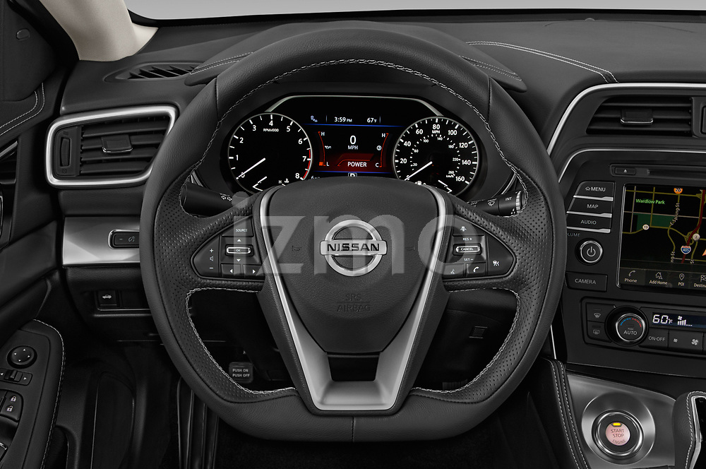 Car pictures of steering wheel view of a 2020 Nissan Maxima SV 4 Door Sedan Steering Wheel