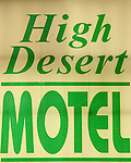 High Desert Motel illuminated sign, Joshua Tree, California
