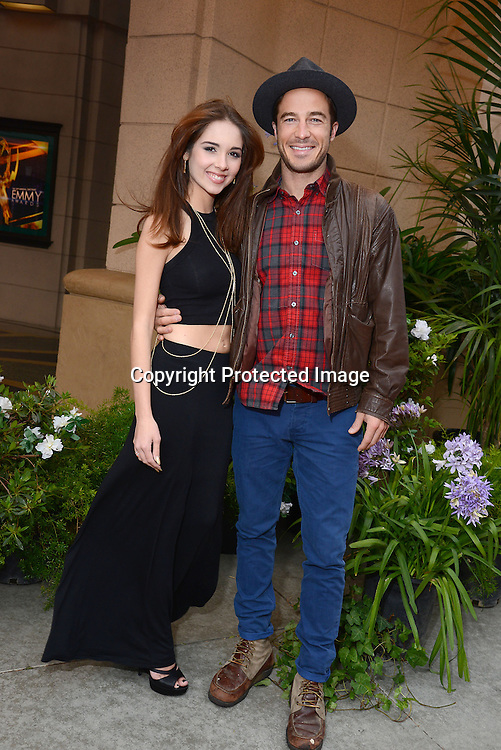 Haley Pullos and Ryan Carnes  attends the 2015 Daytime Emmy Gifting Suite on April 25, 2015 at Warner Brothers Stuido Lot  in Burbank, California, USA. The gift lounge was presented byOffTheWallIdeas.com.