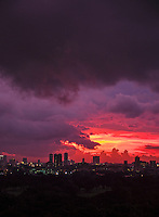 Sunset and Storm over Manila, Monsoon Season, Philippines