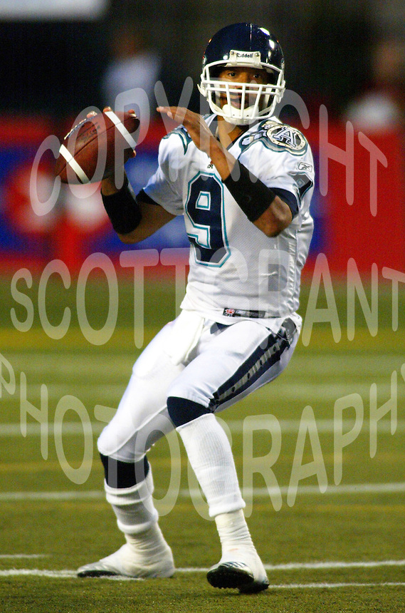 Damon Allen Toronto Argonauts 2004. Photo F. Scott Grant