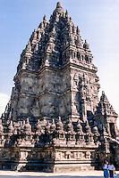 Java, Central Java. Prambanan. Candi Shiva Mahadeva, Loro Jonggrang, the center of the temple complex Prambanan.
