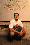 Anthrax drummer, Charlie Benante, poses for a portrait session