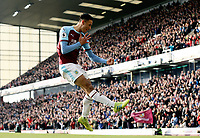 Burnley's Dwight McNeil celebrates scoring his side's second goal <br /> <br /> Photographer Rich Linley/CameraSport<br /> <br /> The Premier League - Burnley v Wolverhampton Wanderers - Saturday 30th March 2019 - Turf Moor - Burnley<br /> <br /> World Copyright © 2019 CameraSport. All rights reserved. 43 Linden Ave. Countesthorpe. Leicester. England. LE8 5PG - Tel: +44 (0) 116 277 4147 - admin@camerasport.com - www.camerasport.com