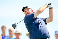 Shane Lowry (IRL) on the 3rd tee during the 1st round of the 2017 Portugal Masters, Dom Pedro Victoria Golf Course, Vilamoura, Portugal. 21/09/2017<br /> Picture: Fran Caffrey / Golffile<br /> <br /> All photo usage must carry mandatory copyright credit (&copy; Golffile | Fran Caffrey)