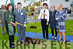 Robbert Flaherty (deputy Principal CBS the green) turns the sod to mark the 90th anniversary of CBS The Green on Friday L-r:         Robert Flaherty (Deputy Principal CBS The green), Noram Foley (Mayor of Tralee) Maureen O'Brien and  Ann O'Callaghan (principal CBS the Green).