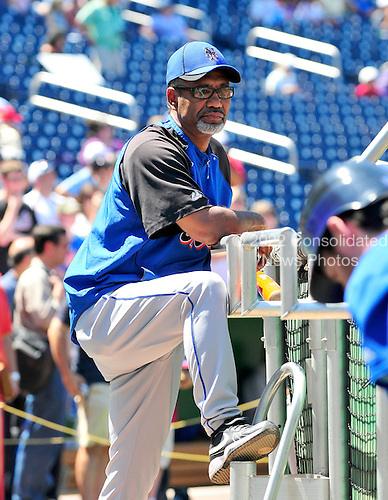 New York Mets manager Jerry Manuel (53) watches his team's batting practice prior to the game against the Washington Nationals at Nationals Park in Washington, D.C. on Saturday, July 3, 2010.  .Credit: Ron Sachs / CNPNew York Mets against the Washington Nationals at Nationals Park in Washington, D.C. on Saturday, July 3, 2010.  .Credit: Ron Sachs / CNP.(RESTRICTION: NO New York or New Jersey Newspapers or newspapers within a 75 mile radius of New York City)