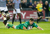 9th September 2017, Galway Sportsground, Galway, Ireland; Guinness Pro14 Rugby, Connacht versus Southern Kings; Eoghan Masterson with a try for Connacht