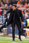 Coach Diego Simeone of Atletico de Madrid gives instructions during their 2016-17 UEFA Champions League match between Atletico Madrid and FC Rostov at the Vicente Calderon Stadium on 01 November 2016 in Madrid, Spain. Photo by Diego Gonzalez Souto / Power Sport Images