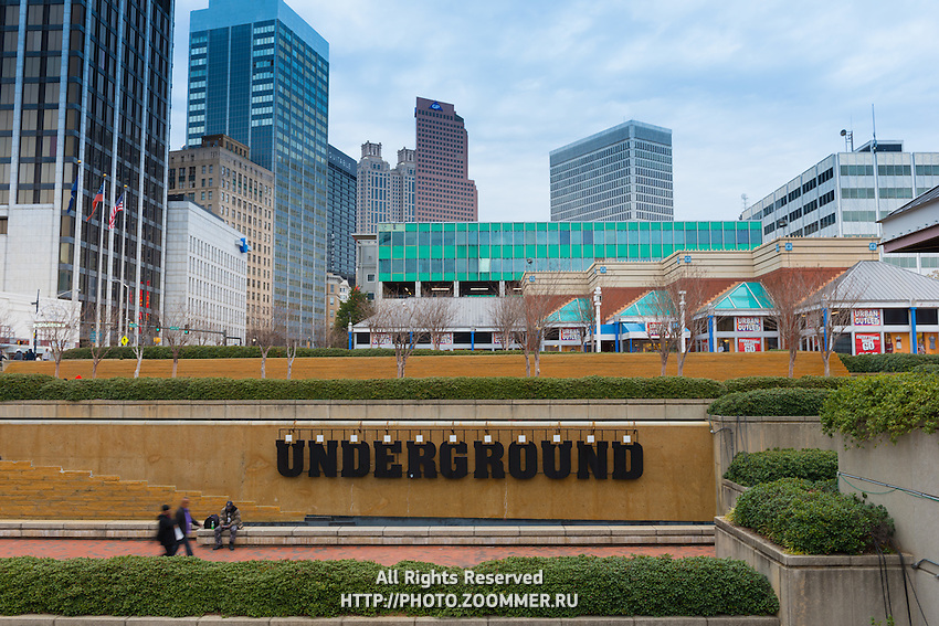 Underground Atlanta on Peachtree Fountains Plaza