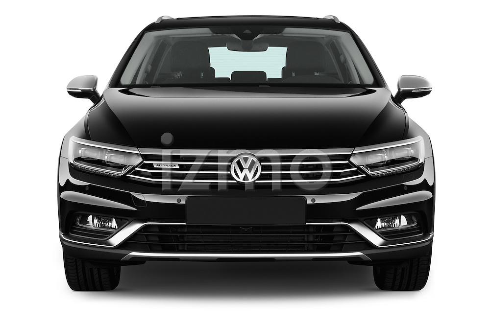 Car photography straight front view of a 2016 Volkswagen Passat Alltrack 5 Door Wagon Front View