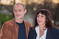 GUILLAUME NICLOUX, SYLVIE PIALAT - AVANT-PREMIERE DU FILM 'THE END' A LA CINEMATHEQUE FRANCAISE