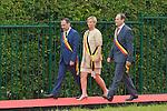 Ceremony of the bicentenary of the Battle of Waterloo. Waterloo, 18 june 2015, Belgium<br /> Pics: mayor of Braine-l Alleud and Waterloo