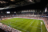 An overview of Red Bull Arena. The women's national team of the United States defeated the Korea Republic 5-0 during an international friendly at Red Bull Arena in Harrison, NJ, on June 20, 2013.
