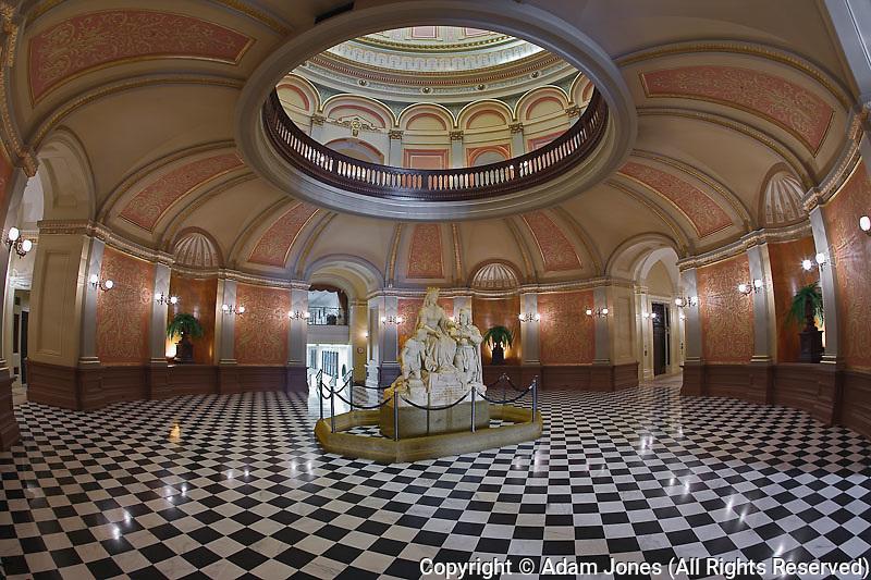 Interior view of the California State Capital Building, Sacramento, California