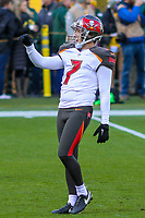 Tampa Bay Buccaneers kicker Patrick Murray (7) during a National Football League game against the Green Bay Packers on December 2nd, 2017 at Lambeau Field in Green Bay, Wisconsin. Green Bay defeated Tampa Bay 26-20. (Brad Krause/Krause Sports Photography)