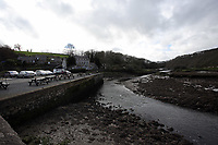 Pictured: The river in Cresswell Quay, Pembrokeshire, Wales, UK. Thursday 16 March 2017<br /> Re: A racehorse owned by a syndicate from Pembrokeshire which was a favourite to win at this year's Cheltenham Festival, has lost.<br /> Tobefair, a seven-year-old gelding, has won his last seven races.<br /> He was gifted as a colt to Michael Cole three years ago, in return for looking after two fillies on his farm.<br /> Unable to afford the training costs on his own, he decided to offer 50% of the ownership to people he knew through his local pub, the Cresselly Arms at Cresswell Quay Quay.<br /> The syndicate grew to 17 members but none except Mr Cole had owned a racehorse before.<br /> They said they were amazed when Tobefair started winning races and never dreamed he would make it to Cheltenham.