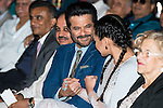 Indian actor Anil Kapoor and indian actress Sonakshi Sinha during the presentation of the IIFA Awards in Madrid. June 23, 2016. (ALTERPHOTOS/BorjaB.Hojas)