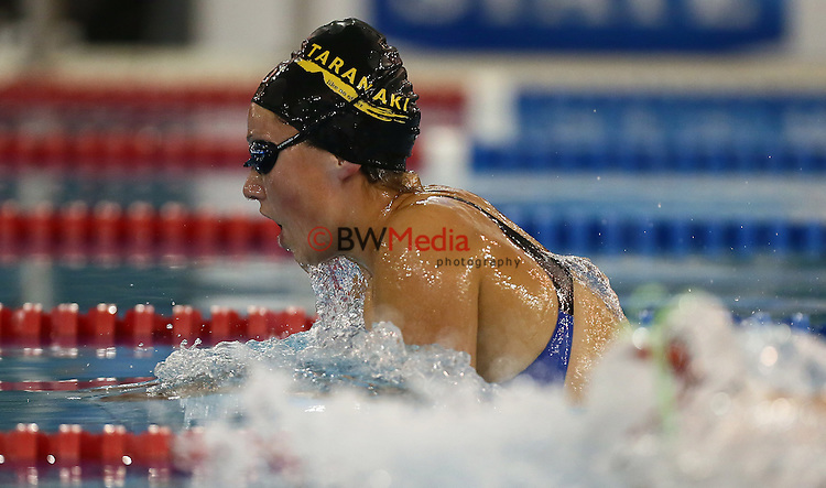 150314.  Aliena Wallis during Day Four, session eight of the State New Zealand Division II Swimming Champs, Waterworld, Te Rapa, Hamilton. Saturday 15 March 2014. Photo: Simon Watts/www.bwmedia.co.nz/Swimming New Zealand