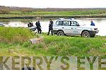 Murder Scene : Garda sub aqua divers at the Ferry Bridge on Tuesday.