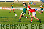 Action from the Kerry v Cork Munster U20 Football final in Austin Stack Park on Friday.