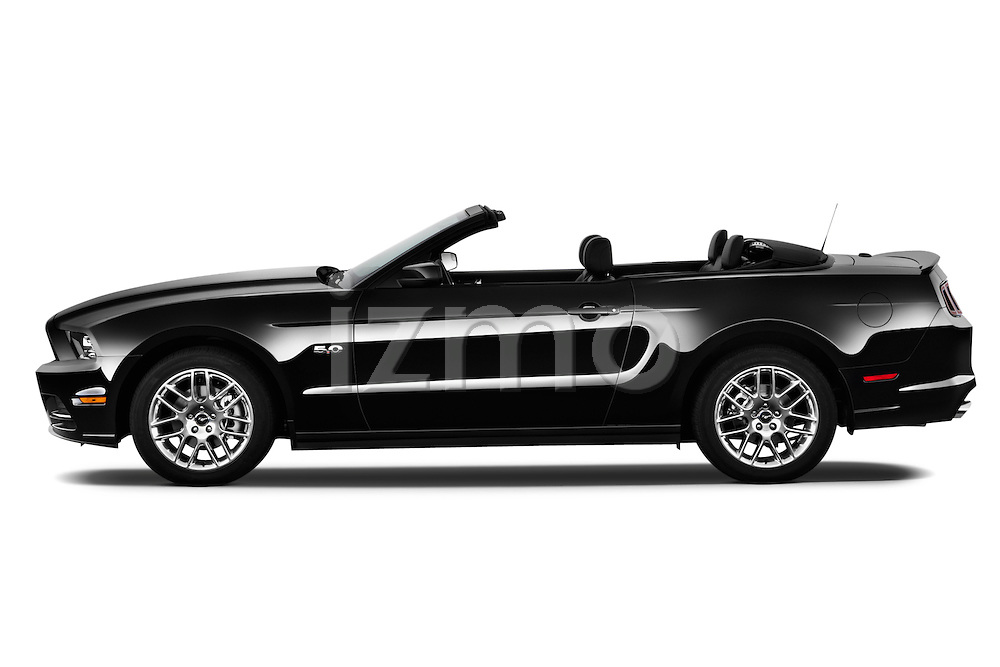 Driver side profile view of a .  2013 Ford Mustang GT Premium Convertible