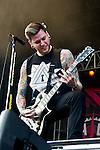 Neil Westfall of A Day To Remember performs during the 2013 Rock On The Range festival at Columbus Crew Stadium in Columbus, Ohio.