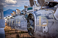 Air craft scrap yard in Tuscon Arizona, near Davis-Monthan Air Force Base