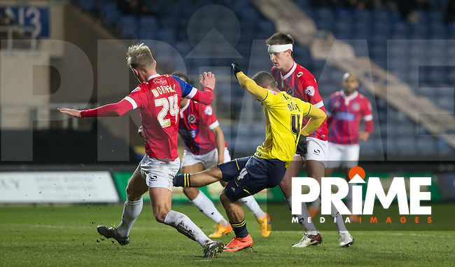 Kemar Roofe of Oxford United scores a goal to make it 1 0 during the Sky Bet League 2 match between Oxford United and Dagenham and Redbridge at the Kassam Stadium, Oxford, England on 15 March 2016. Photo by Andy Rowland.